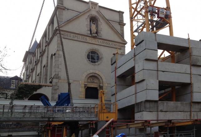 Maison Internationale des Franciscaines Missionnaires de Notre-Dame, chantier / december 2012